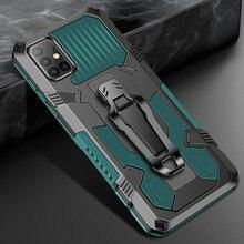 Funda A prueba de golpes para Samsung Galaxy A31, armadura de lujo con Clip para cinturón, funda con soporte para Samsung Galaxy A31 A 31 SM-A315F/DS A315G