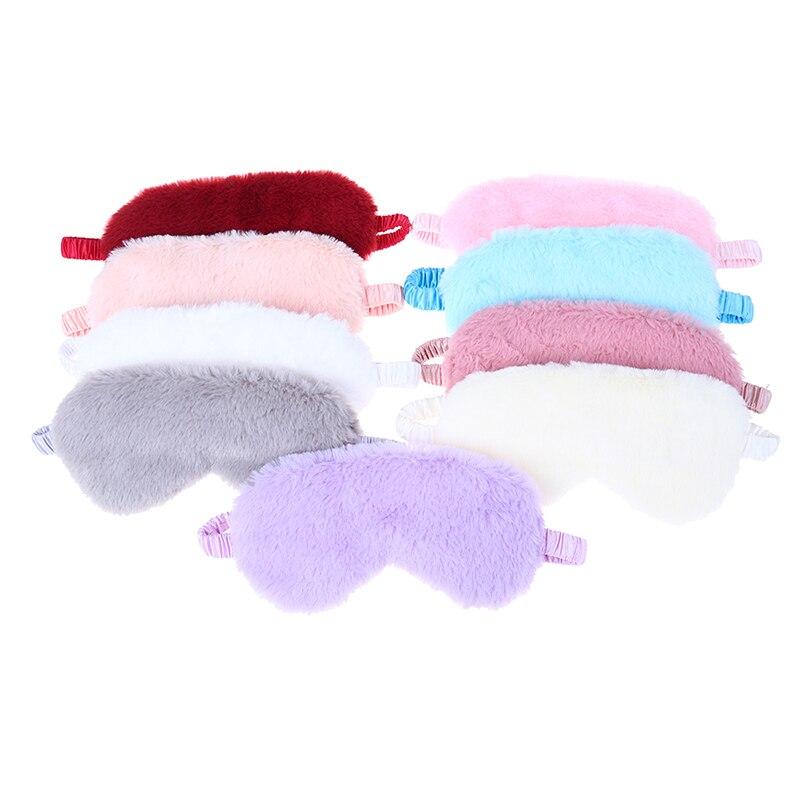 Super Soft Plush Eye Masks Silk Love Cloud Eye Cover Rabbit Plush Sleeping Mask Eyepatch Cartoon Nap Eye Shade Blindfold