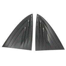 Для Tesla модель 3 углеродного волокна стиль заднего стекла жалюзи аксессуары для отделки 2 шт