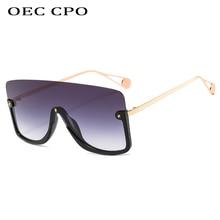 Flat top Sunglasses Women Oversized Luxury Brand