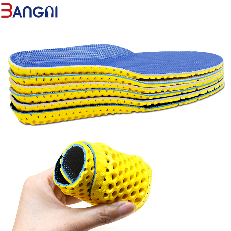 3ANGNI Elastic Men/Woman Orthotic Arch Support Shoe Insert Flat Feet Insoles For Shoes Comfortable EVA Orthopedic Insoles