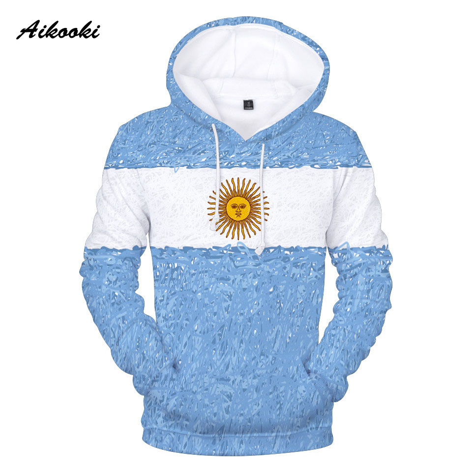 Argentine National Flag 3D Hoodies Men/Women/kids Spring Winter Classic Print Sweatshirts Argentina Flag 3D Hoody Casual Tops