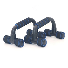 Durable H-type Bar Push-up Rack Frame Bracket Gym Excercise Yoga Stands With Foam Grip Handle Indoor Fitness Muscle Training Ra chromed one pair push up bar with foam handle for arm
