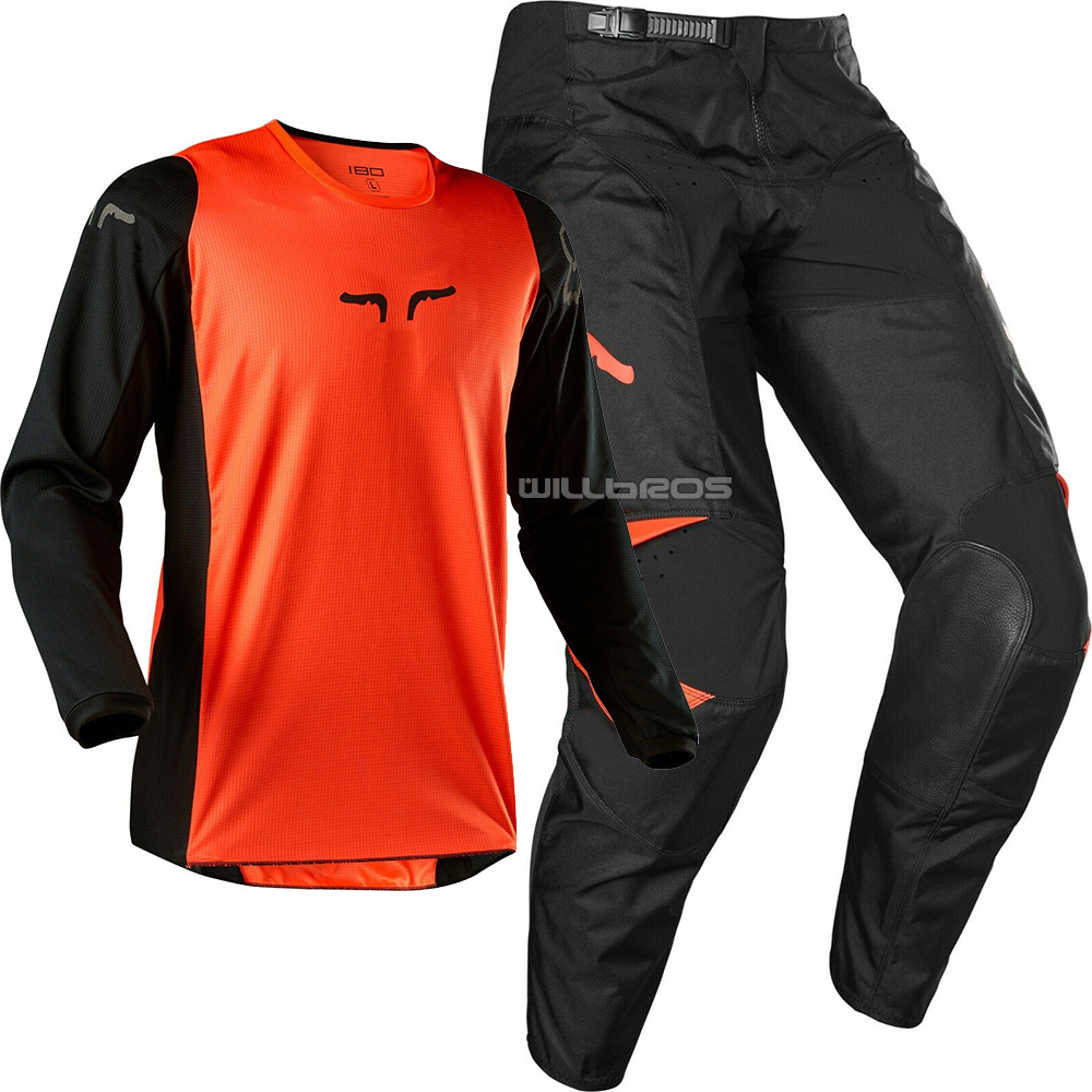 New Racing 180 Prix Jersey Pant Combo MX Motocross Dirt Bike ATV UTV SX Off-Road Orange Men's Gear Venue Competition Set