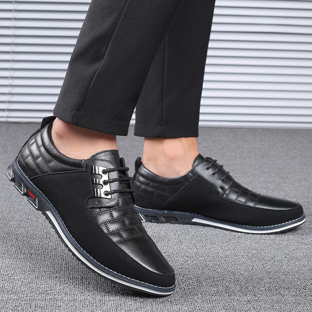 H8c948cbf1ea14402a37558c9ec19bf779 2019 New Big Size 38-48 Oxfords Leather Men Shoes Fashion Casual Slip On Formal Business Wedding Dress Shoes Men Drop Shipping