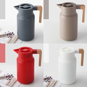 Glass Vacuum Flasks Insulation Thermos 1L Large Household Hot Water Pot Kettle Office Coffee Thermal Warmer Bottles Double Wall 4