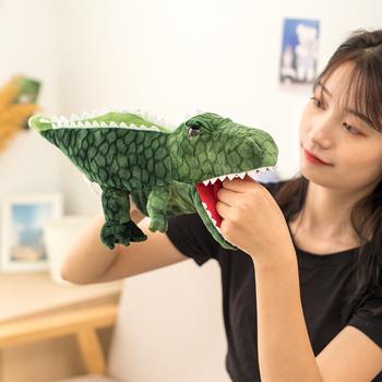 Pluszowe zwierzęta pacynka dinozaur rekin delfin żółw pluszowa pacynka pacynka dzieci do odgrywania ról zabawki tanie i dobre opinie nooer CN (pochodzenie) no fire 3 lat 091120 Unisex