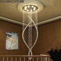 Led Crystal Chandeliers Ceiling Lamps Round Luminaria de teto for Aisle Stair Hallway lights Plafon Abajur Lighting Fixtures