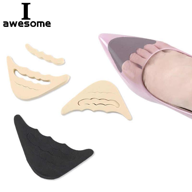 1 par suave EVA Unisex plantilla cojín pie frontal zapato almohadillas de tacón alto Metatarsal zapato insertar cómodo relajarse relleno vacío espacio