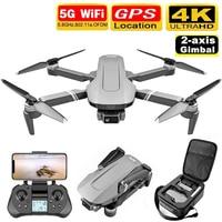 Dron con cámara Dual 4K F4, GPS, 5G, WiFi, FPV, 2 ejes, cardán antivibración, 2000m, transmisión de imagen, sin escobillas, profesional, RC Quadco