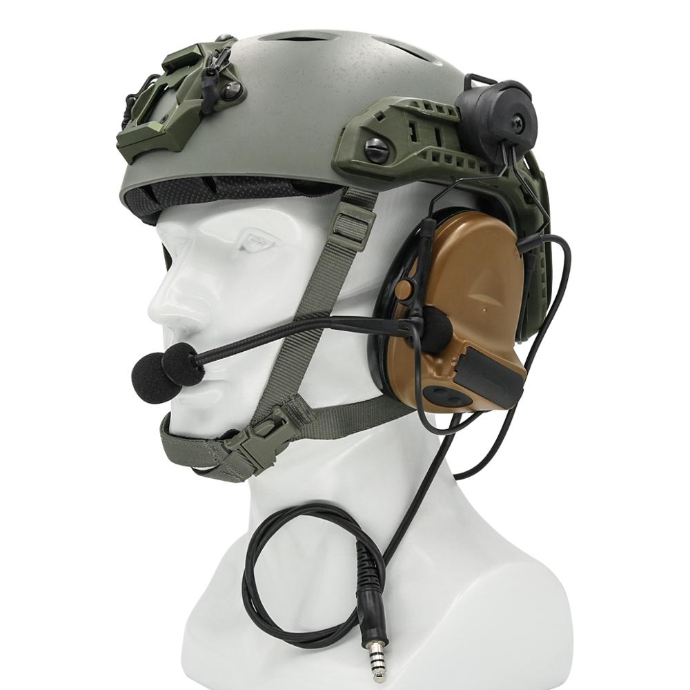 Купить с кэшбэком COMTAC II Helmet Bracket Version Headphones Pickup Noise Reduction Hearing Protection Tactical Headset Airsoft Hunting Earphone