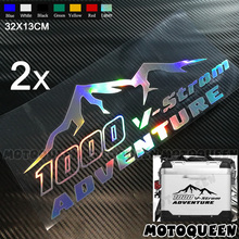 2X Motorcycle Luggage Aluminium Side Box Decoration Decals Reflective Stickers For Adventure V Strom 650 1000 DL650 DL1000