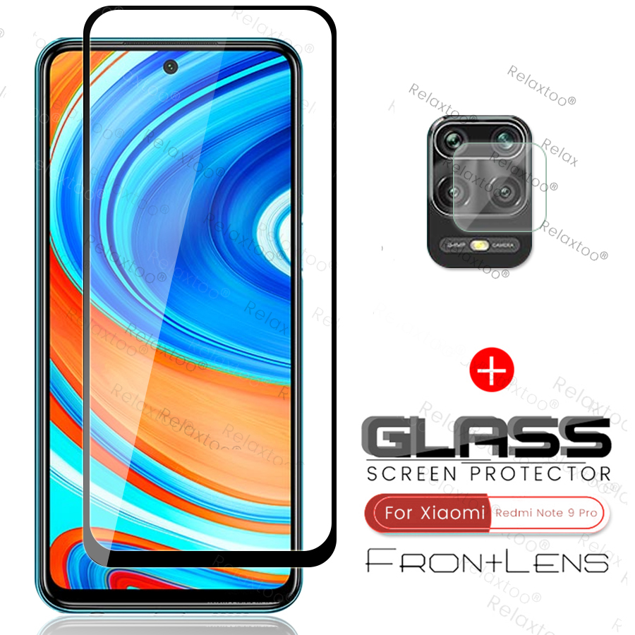 2-in-1 Camera Glass For Xiaomi Redmi Note 9 Pro Max 2020 Phone Screen Protector Film On Xiomi Redmy Note 9s Notes 9 S Note9 Pro