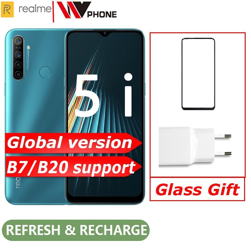 Глобальная версия realme 5i мобильный телефон Snapdragon 665 AIE 6,5 ''полный экран 10 Вт зарядное устройство 5000 мАч четырехъядерный телефон