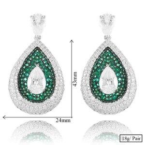 Image 5 - GODKI 2020 Red Carpet Famous Brand Waterdrop Earrings For Women BOHO Crystal CZ Drop Earrings Brincos Fashion Tortoise Jewelry