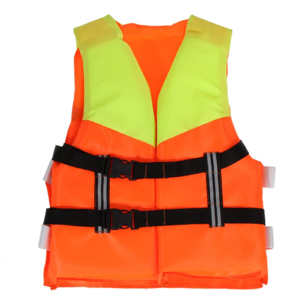 Kids Life Jacket Swimming with Whistle Reflective Strips Safety Life Vest 8