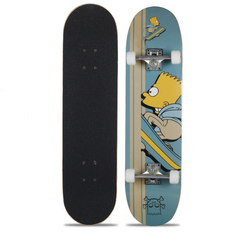 Fashion Skateboard For Maple Double Warped Four-wheel Skateboard Male And Female Adult Children Skateboard