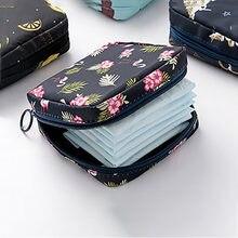 Kadın Tampon saklama çantası hijyenik ped kılıfı peçete kozmetik çantaları organizatör bayanlar makyaj çantası kızlar Tampon tutucu organizatör