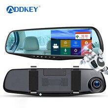 Автомобильный видеорегистратор ADDKEY, видеорегистратор 4,3 дюйма, сенсорный FHD 1080 P, зеркало заднего вида, видеорегистратор с двумя объективами, автоматический Регистратор с камерой заднего вида