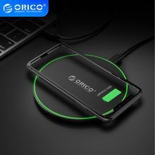 Беспроводное зарядное устройство ORICO Qi, 5 Вт/7,5 Вт/10 Вт, с зарядным устройством для iPhone X/XS Max XR Samsung Huawei Xiaomi