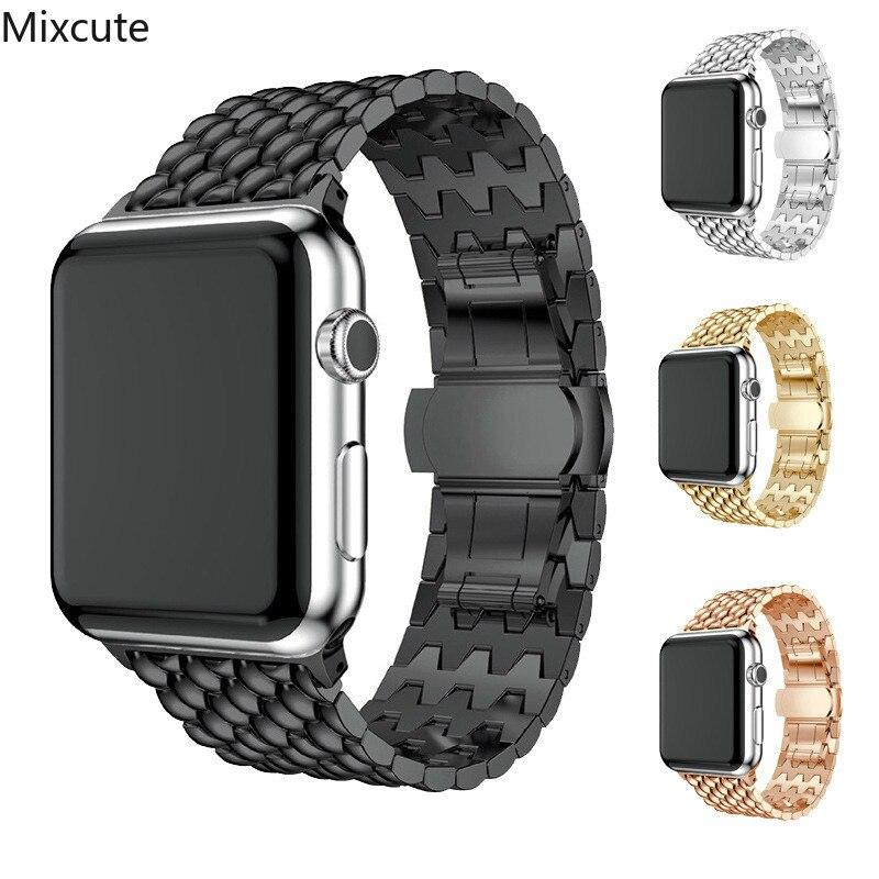 메탈 아이폰 밴드 2 42mm 시리즈 3 1 iwatch 스트랩 44mm 40mm 38mm apple watch accessrioes
