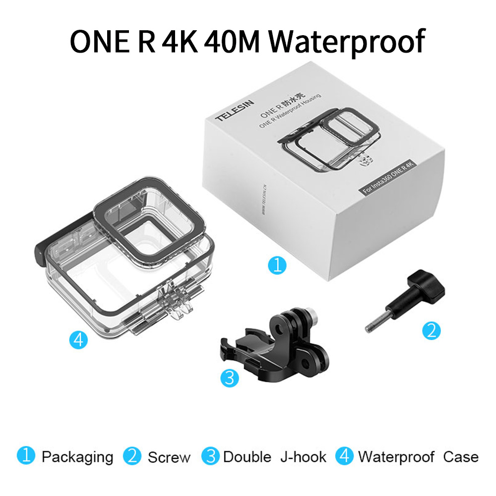 TELESIN 45M Underwater Housing Case Waterproof Case Lens Cover Protector for Insta360 ONE R 4K 360 Edition Camera Accessories 7