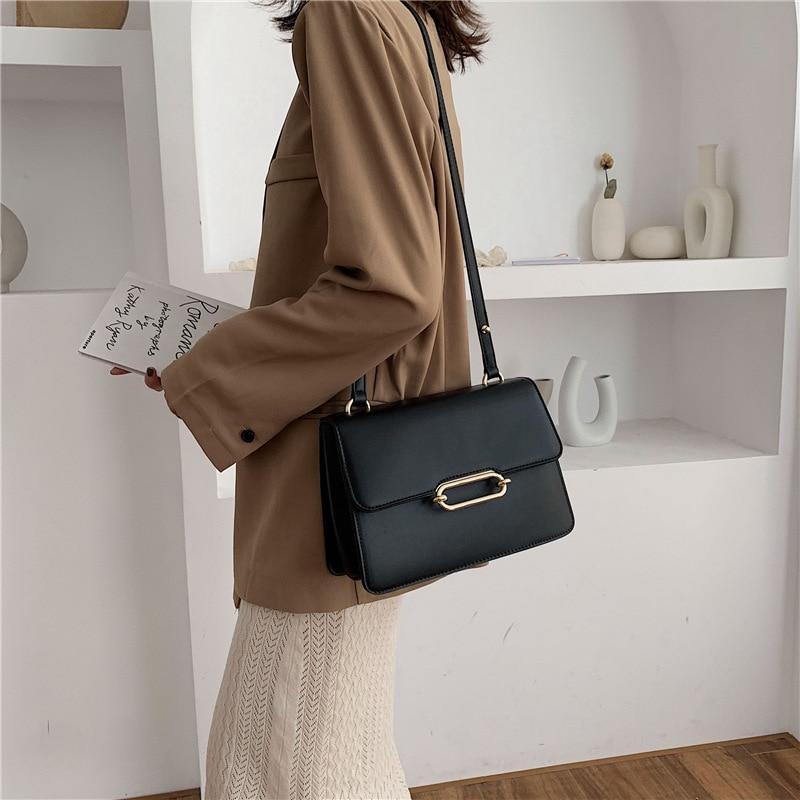 Casual Pu Leather Crossbody Bags For Women High Quality Ladies Small Shoulder Bag Fashion Designer Women Handbags Messenger Bags