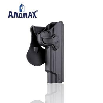 "AMOMAX Nivel II polímero táctico pistolera competitiva   Apto para 1911 5"""