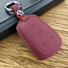 Key case for car Leather for Cadillac Escalade ATS CTS XTS SRX XT5 BLS ATS SRX STS DTS CTS ATS-L XLS 28T CTS-V Coupe keychain
