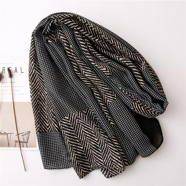 New 2020 desigual cotton Women Print Scarf Bandana Hijab Foulard Scarves cachecol pashmina long poncho femme shawl bandanas 3