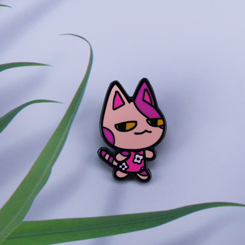 Bob The Cat Animal Crossing Lapel Pin Cute Lazy Villager Adventure