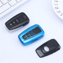 TPU Car Key Case Cover Protect For Toyota Camry CHR Prius Prado 2017 2018 Corolla RAV4 Remote Keyless Covers Protection tpu pc car key holder cover case shell chain for toyota camry corolla c hr chr prado 2018 key protection