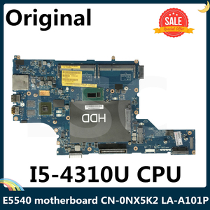 LSC For DELL Latitude E5540 Laptop motherboard CN-0NX5K2 0NX5K2 NX5K2 VAW50 LA-A101P With SR1EE I5-4310U CPU(China)