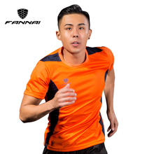 FANNAI Soccer Jerseys Men Customized Slim Fit Short-sleeve Sport Shirt Football Shirts Training Summer Running Jersey