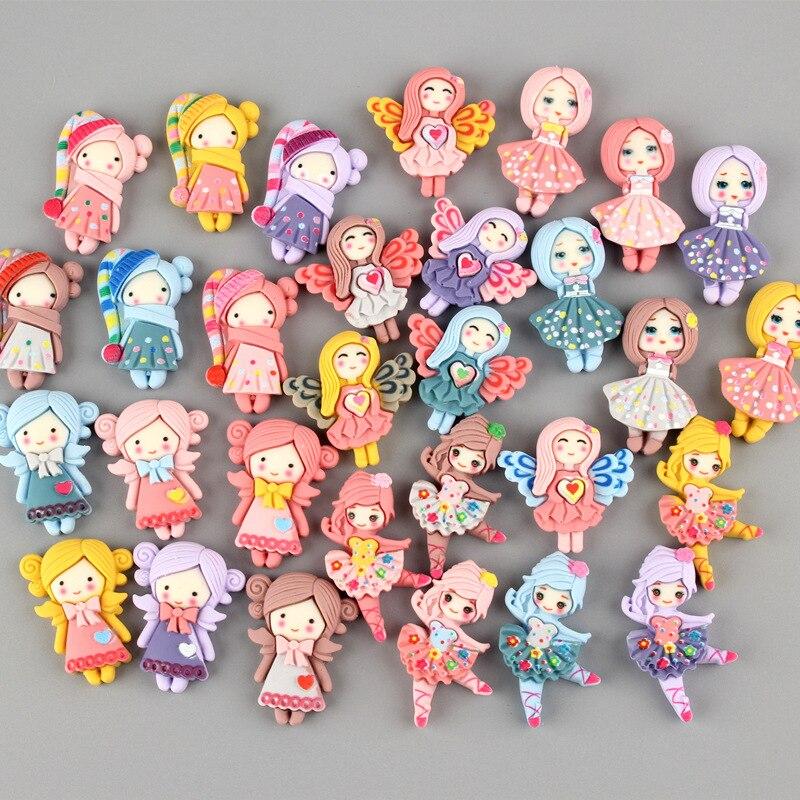 30 шт. мультяшный скраб принцесса девушки цветные резиновые аксессуары «сделай сам» товары для рукоделия детские игрушки головные уборы для...