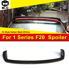 AEAC Style Roof Spoiler Tail Fit For BMW 1 Series F20 118i 120i 125i 130i Carbon Rear Trunk Wing car styling 12-18