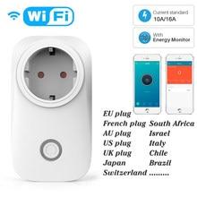 Suisse France Compteur d'énergie de puissance de prise de WiFi de prise intelligente de l'ue 10A/16A fonction de synchronisation de moniteur de puissance