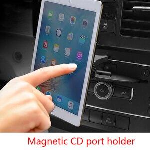 Image 2 - Автомобильный держатель для телефона, магнитный кронштейн, CD порт, подставка для планшета, ПК, магнитный автомобильный держатель для iPad 9,7 10,5 11 MINI 4 Samsung Tab GPS Mount
