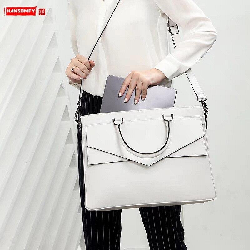 2019 Luxury Fashion Women Handbag Business Briefcase Female Laptop Bag Ladies OL Shoulder Messenger Bag Waterproof Travel Bags