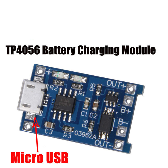 5 Pcs Tp4056 5 V 1a Micro Usb 18650 Lithium Battery Load On Board Charger Module Protection Dual Functions For Arduino Diy Kit