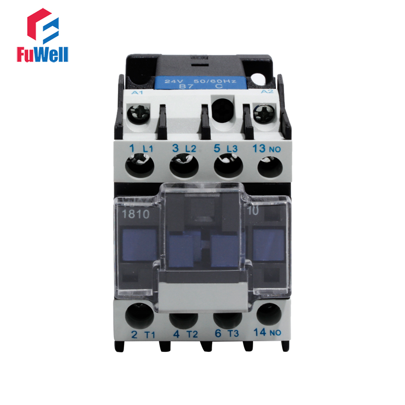 CJX2-1810 AC Contactor NO Normal Open 18A Alternating Current Contactor 24V 36V 48V 110V 220V 380V Coil Voltage Contactor