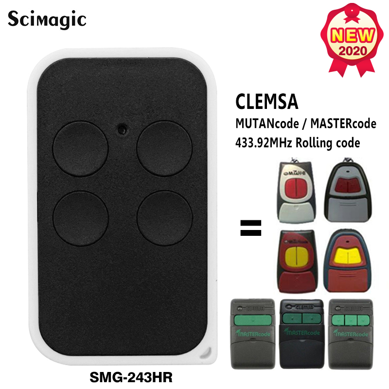 Garage Remote Control For CLEMSA Master CODE MV-1 /  Mutan Code / Mutan Code2  433.92mhz Rolling Code Garage Command