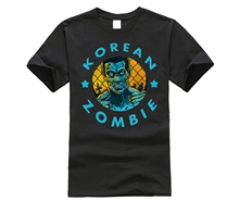 2019 New Brand Men T-Shirt Summer cotton Short Sleeve T Shirt KOREAN ZOMBIE SHIRT V4