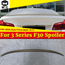 For BMW F30 Sedan Trunk spoiler Wing FRP Unpainted 3 Series 318i 320i 325i 328i 330i 335i M3 M3 style look wings Spoiler 2012-17 for bmw f30 sedan trunk spoiler frp unpainted m3 style 3 series 318i 320i 325i 328i 330i 335i m3 look wing trunk spoiler 2012 17