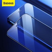 Baseus 0.3mm דק מגן זכוכית עבור iPhone 7 8 6 6s מסך מגן 9H מלא כיסוי מזג זכוכית עבור iPhone X XS מקסימום