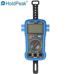 Цифровой мини-мультиметр HoldPeak, портативный цифровой мультиметр с подсветкой, ЖК-дисплеем, измеритель сопротивления, емкости и индуктивност...