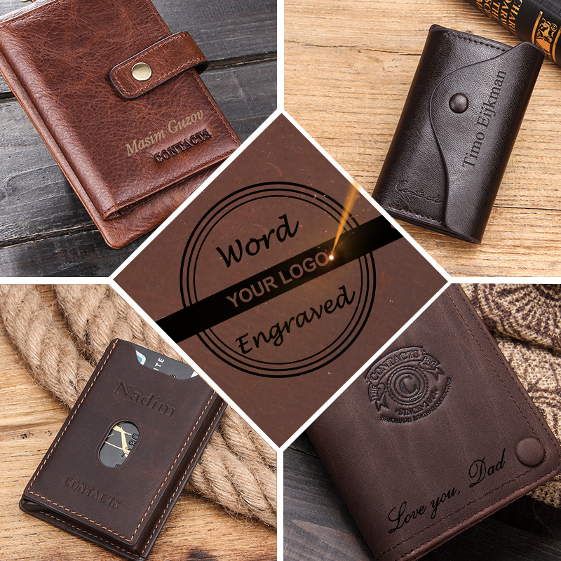 Engrave Customize DIY Engraving Service Buy The Wallet With This Service Logo Cost Laser Charge No Wallet Personality Design