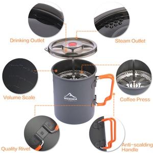 Image 3 - Widesea קמפינג קפה סיר עם צרפתית עיתונות חיצוני כוס ספל כלי בישול לטיולים טרקים