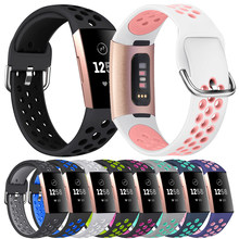 Essidi-Bandas de silicona de calidad para Fitbit Charge 3 4, pulsera deportiva, lazo de cinta para Fitbit Charge 4 3 SE