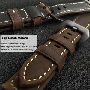 Image 5 - YOOSIDE Fenix 6 Wristband 22mm Quick Fit Genuine Leather Watch Band Strap for Garmin Fenix 5/5 Plus/Forerunner 935/Instinct